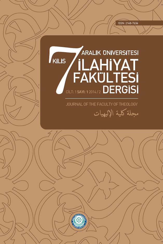 Kilis 7 Aralık Üniversitesi İlahiyat Fakültesi Dergisi