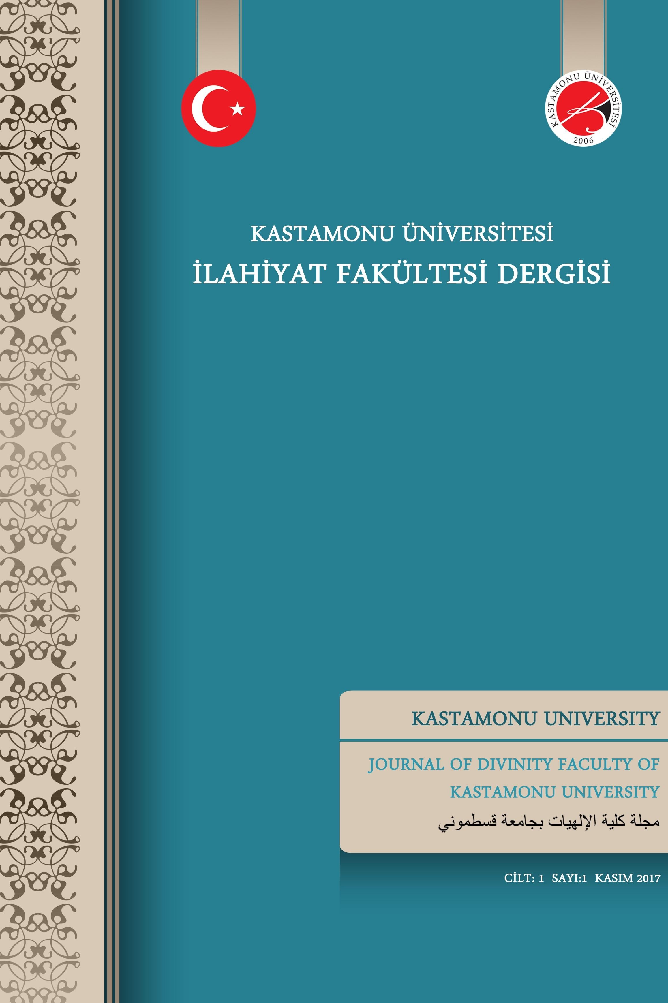 Kastamonu Üniversitesi İlahiyat Fakültesi Dergisi